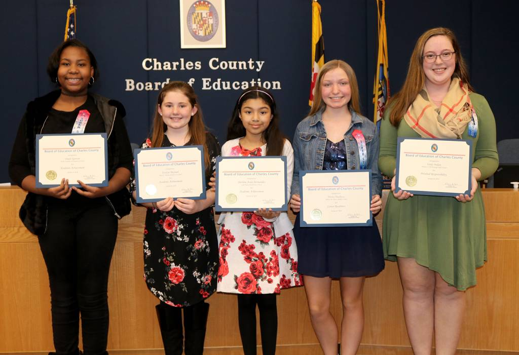 charles co  board of ed  honors students for exemplary accomplishments